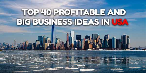 Top 40 Profitable and Big Business Ideas in USA