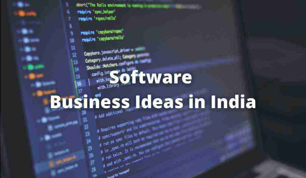 Software Business Ideas in India